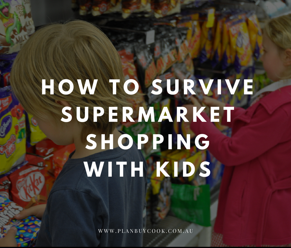 Supermarket shopping with kids – avoiding the pitfalls