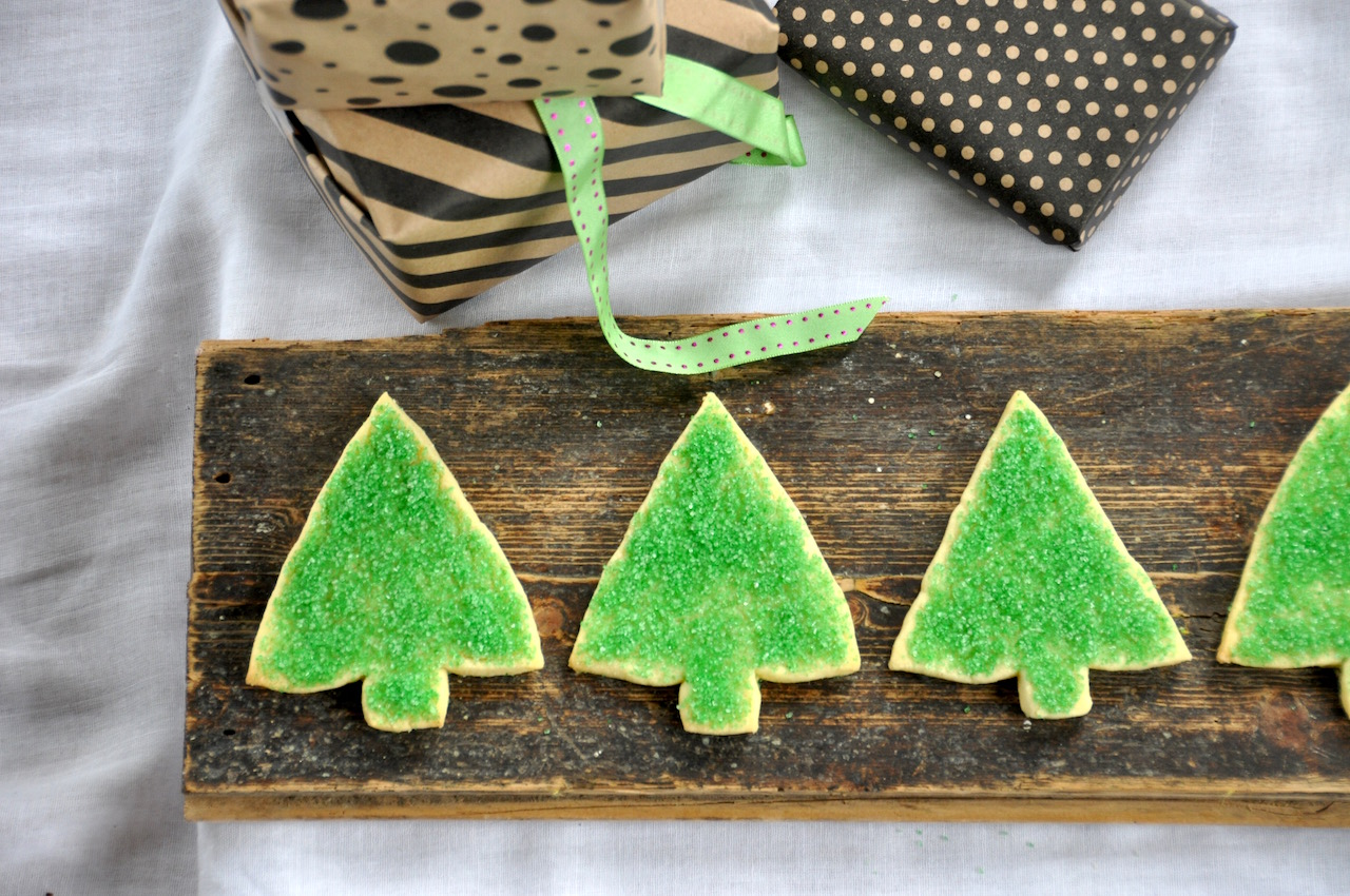 Christmas shortbread trees