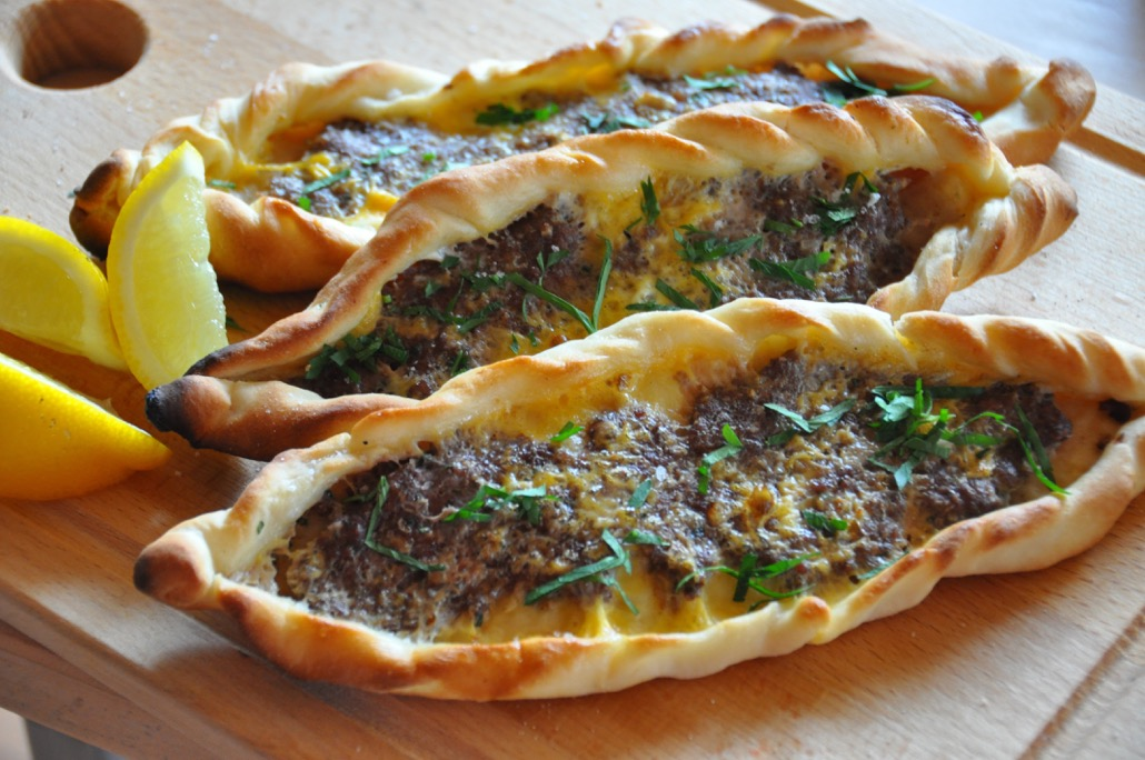 Turkish lamb pide