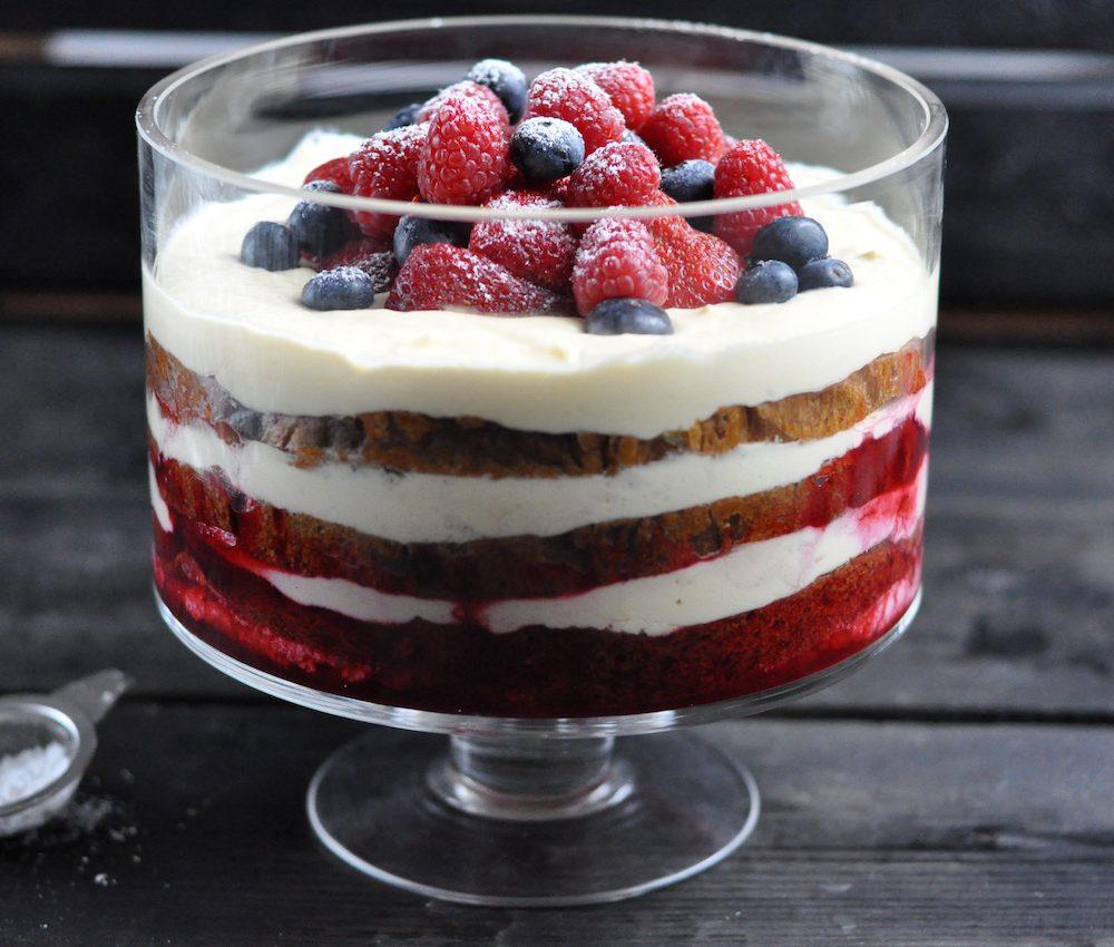 Berry panettone dessert