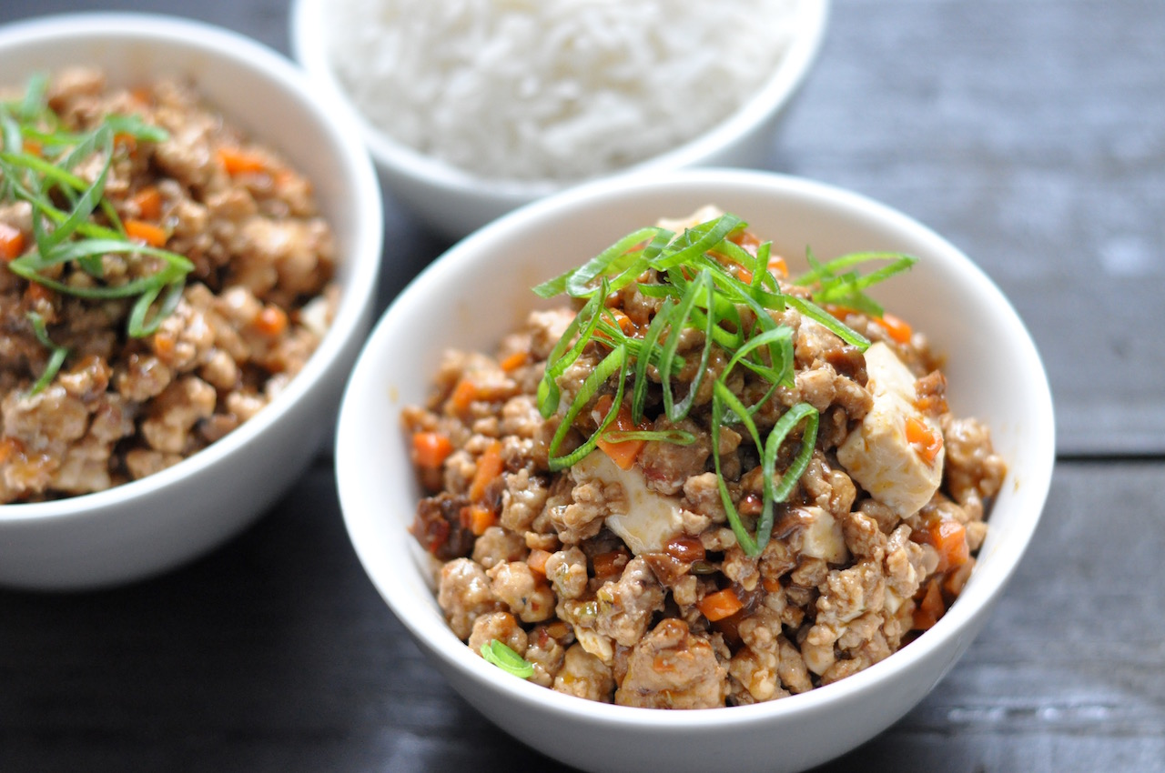 Stir fry mince with XO sauce