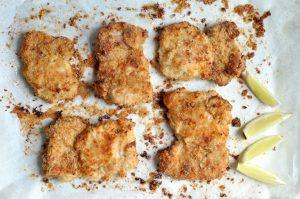 Crumbed chicken thighs
