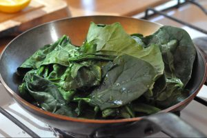 How to wilt spinach and blanch vegetables
