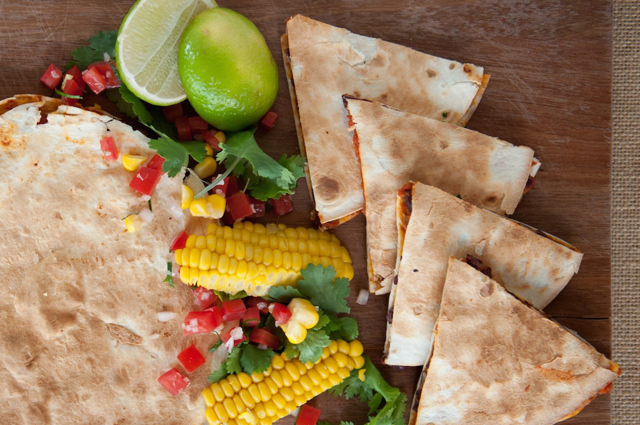 The greatest pantry meal ever: bean quesadillas