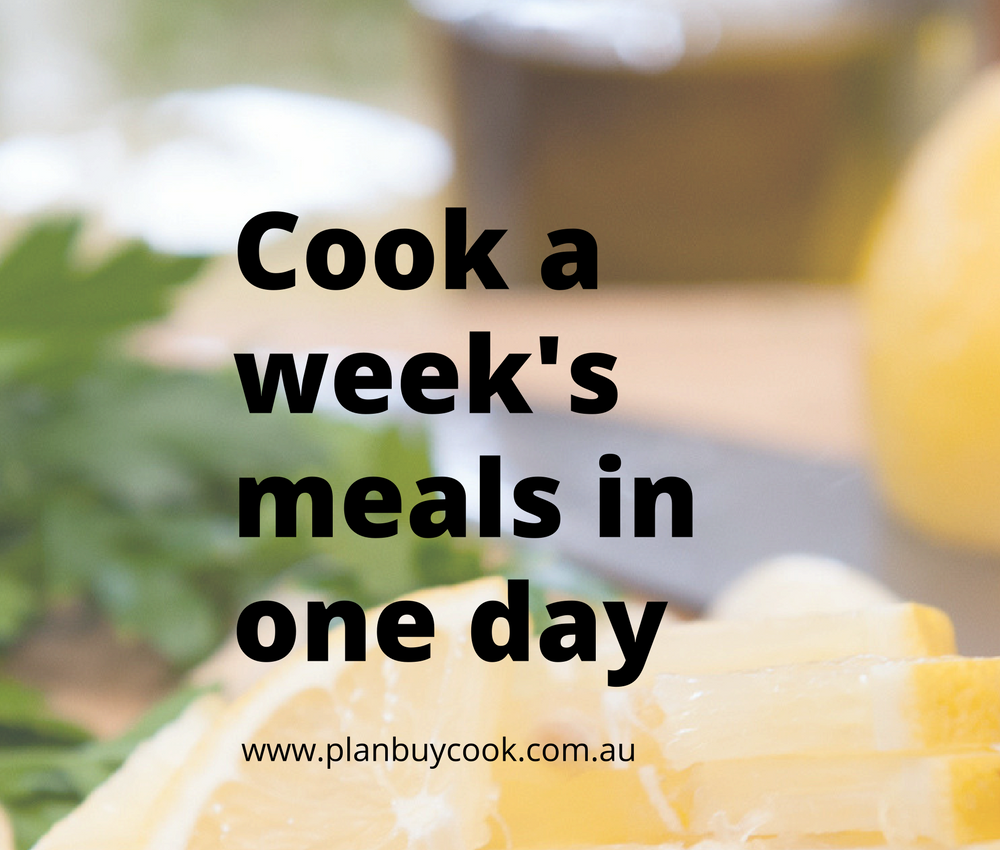 Cook a week's meals in one day
