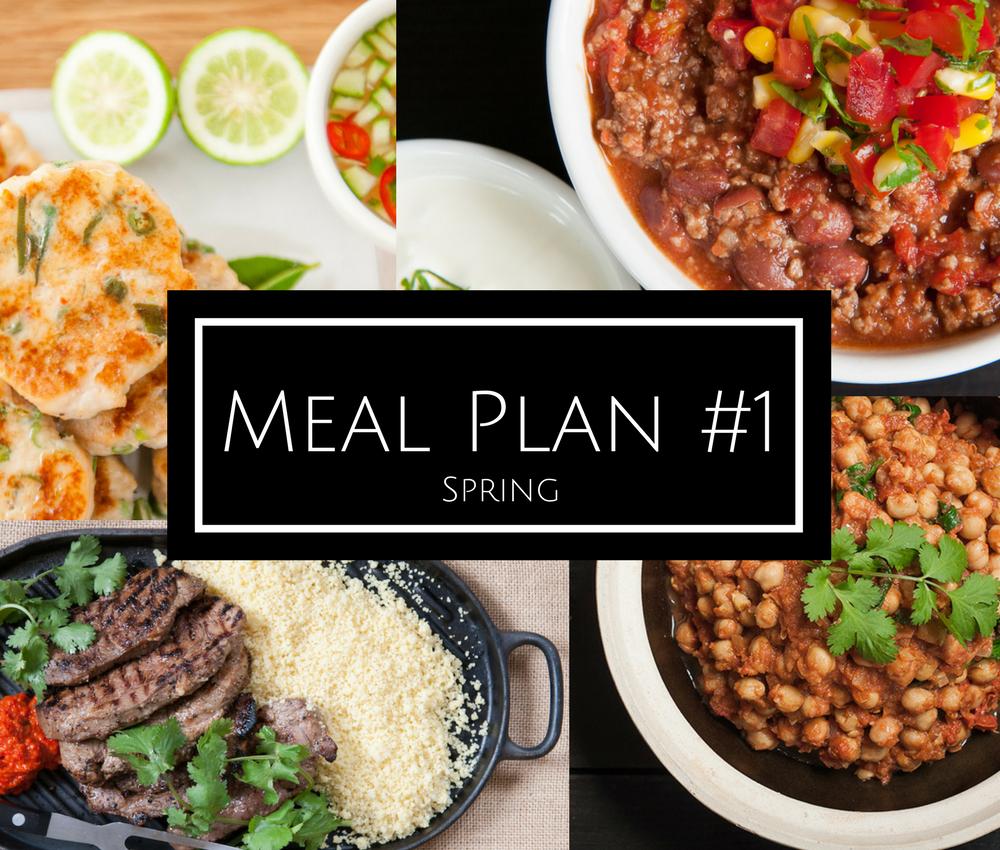 Meal plan #1 – Spring