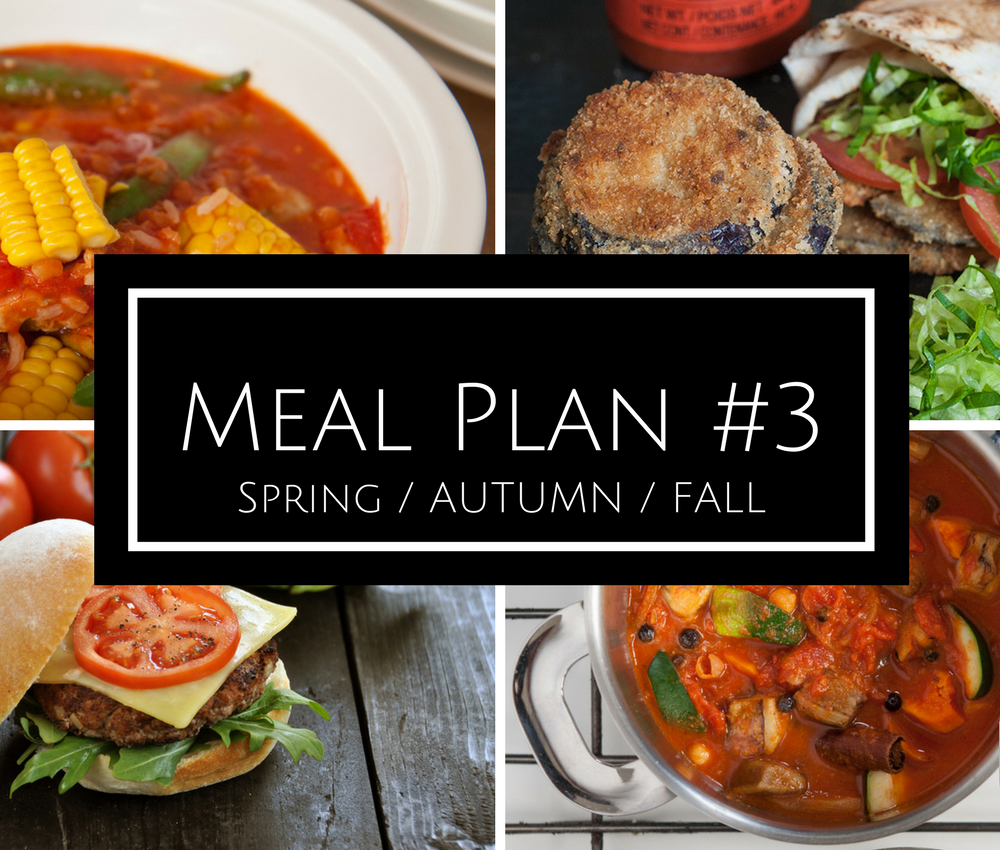 Meal plan #3: Spring/Autumn/Fall