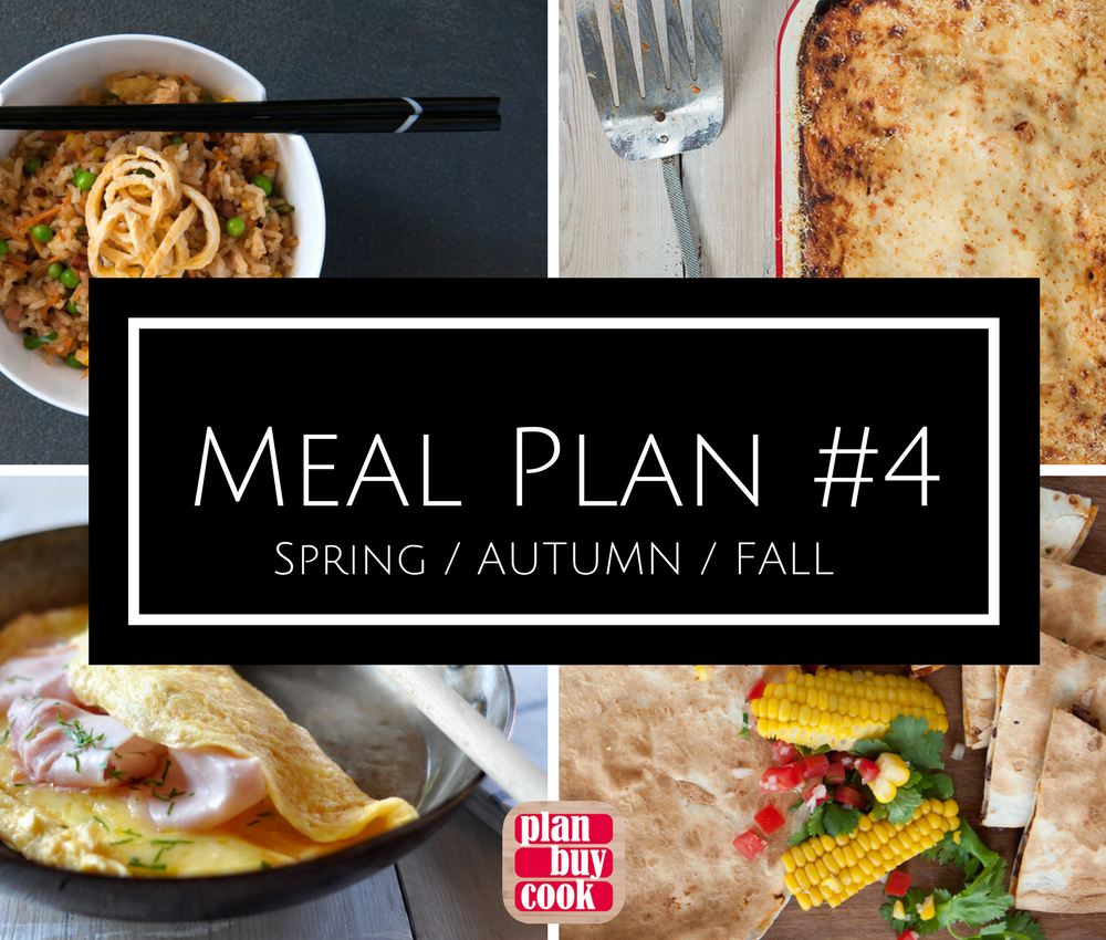 Meal plan #4 – spring/autumn/fall