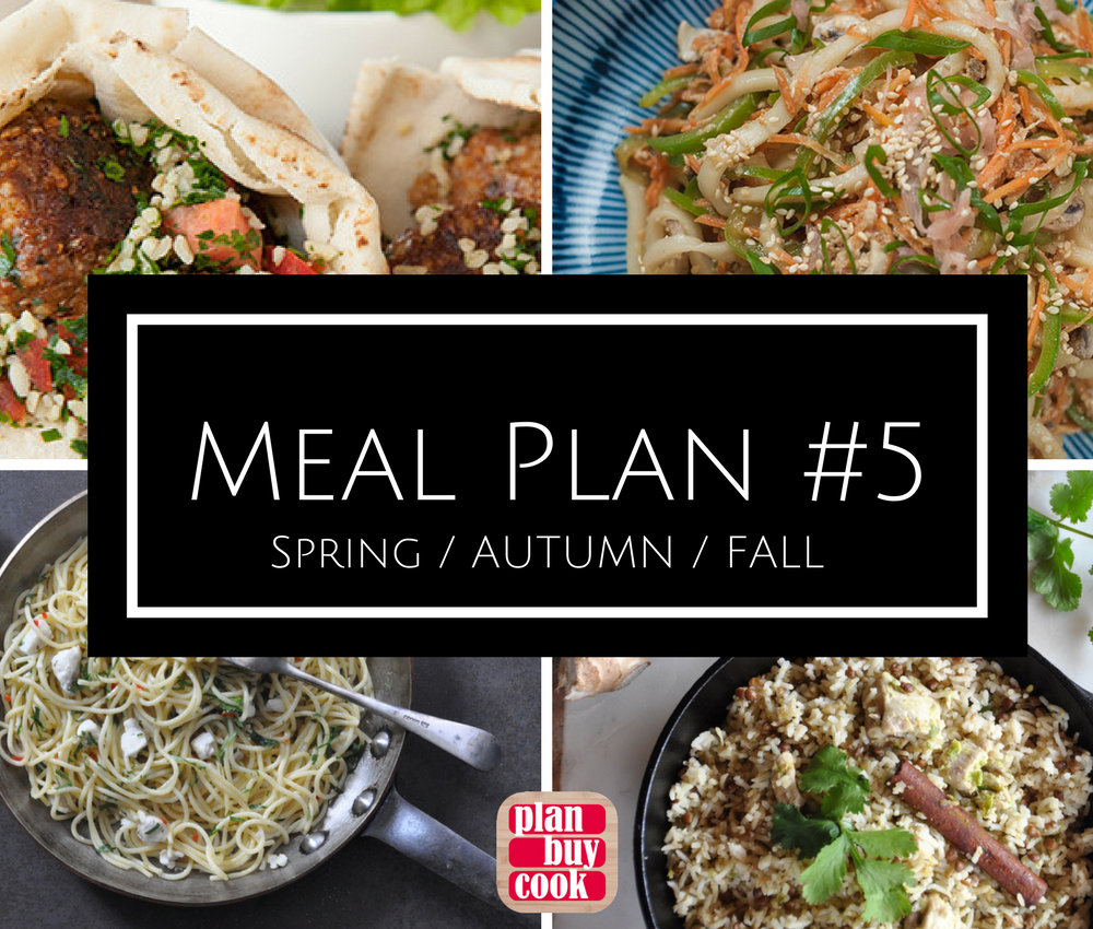 Meal plan #5: Spring / Autumn / Fall