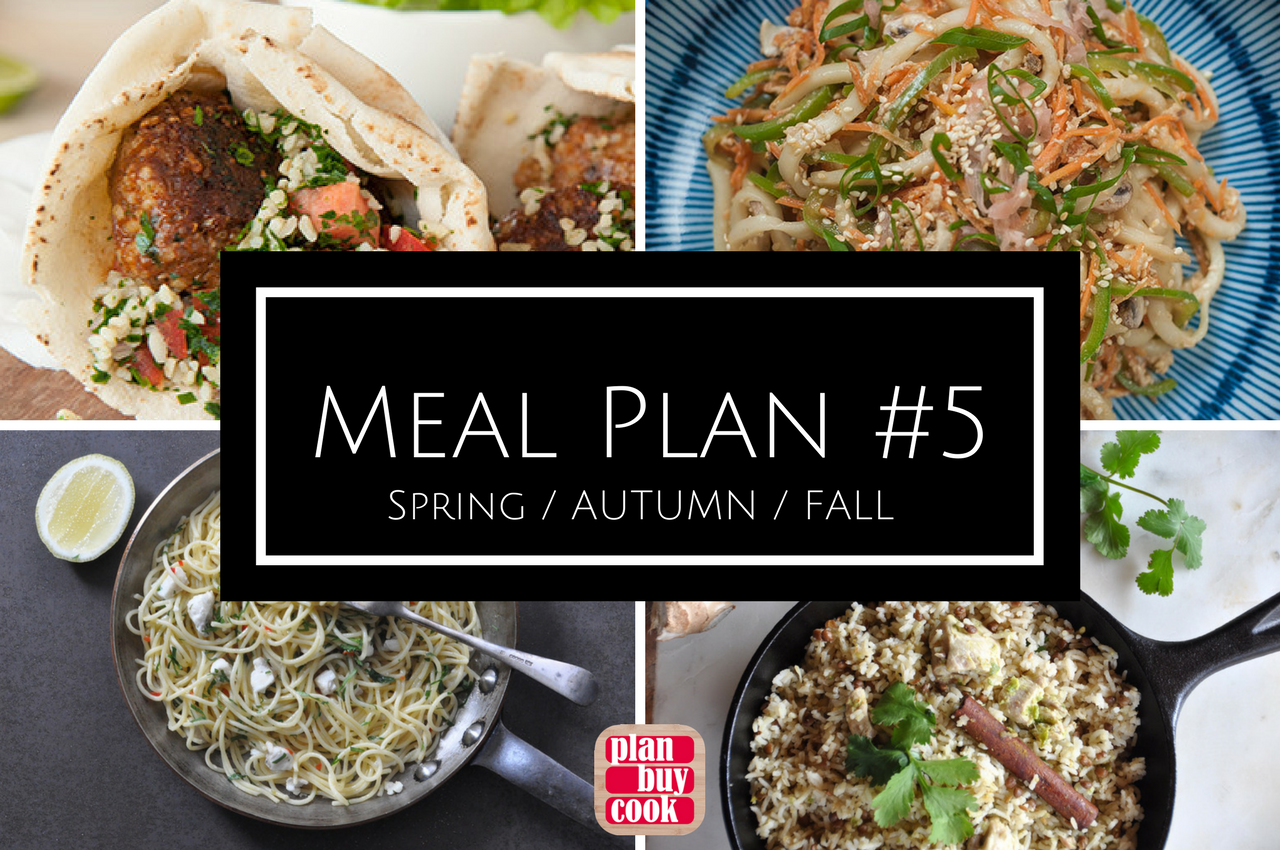 Spring autumn fall meal plan from PlanBuyCook