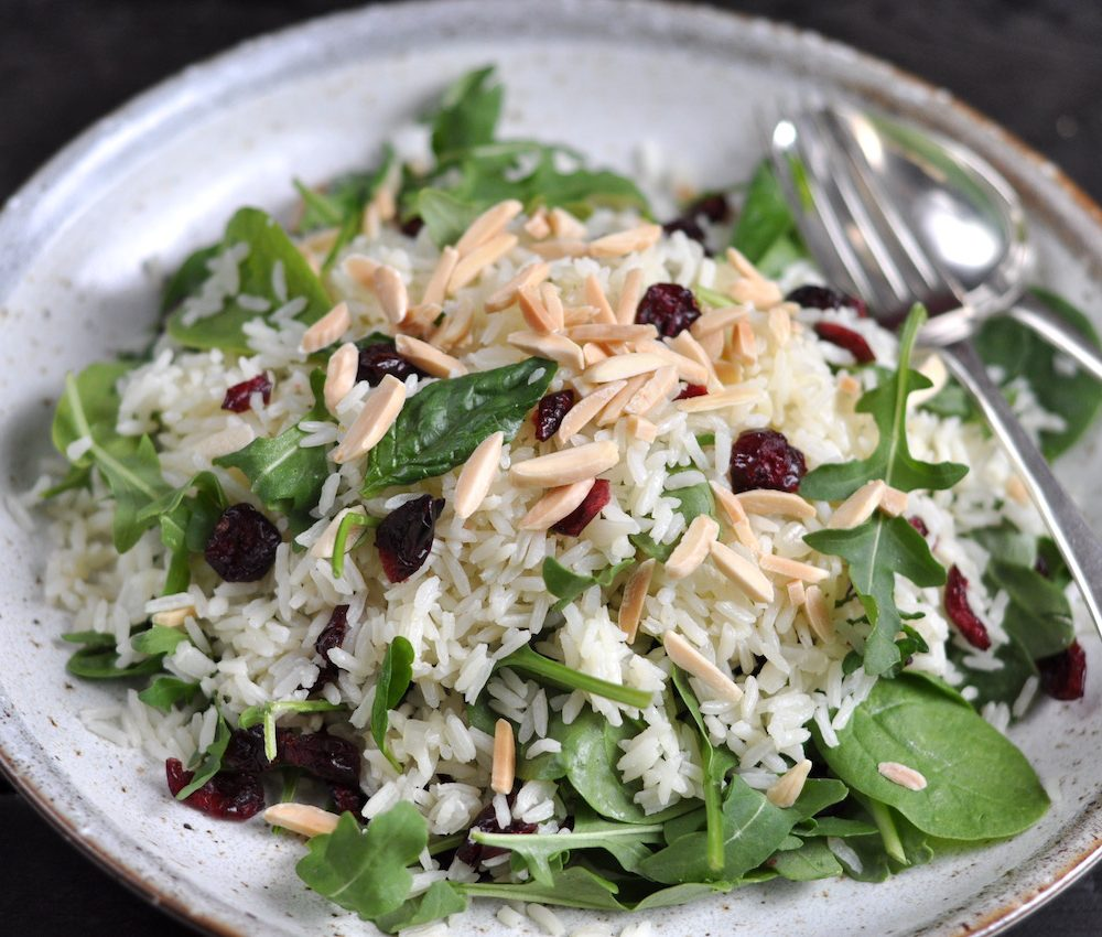 Rice and cranberry salad