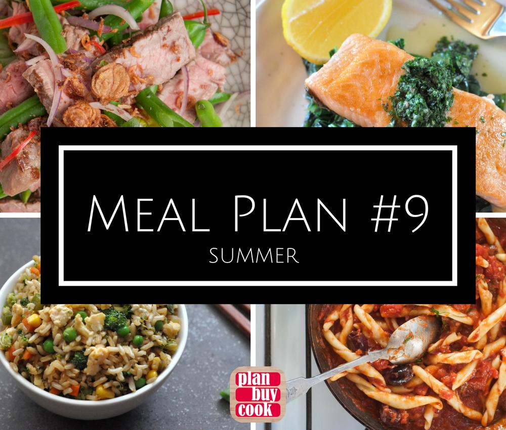 Meal plan #9: Summer