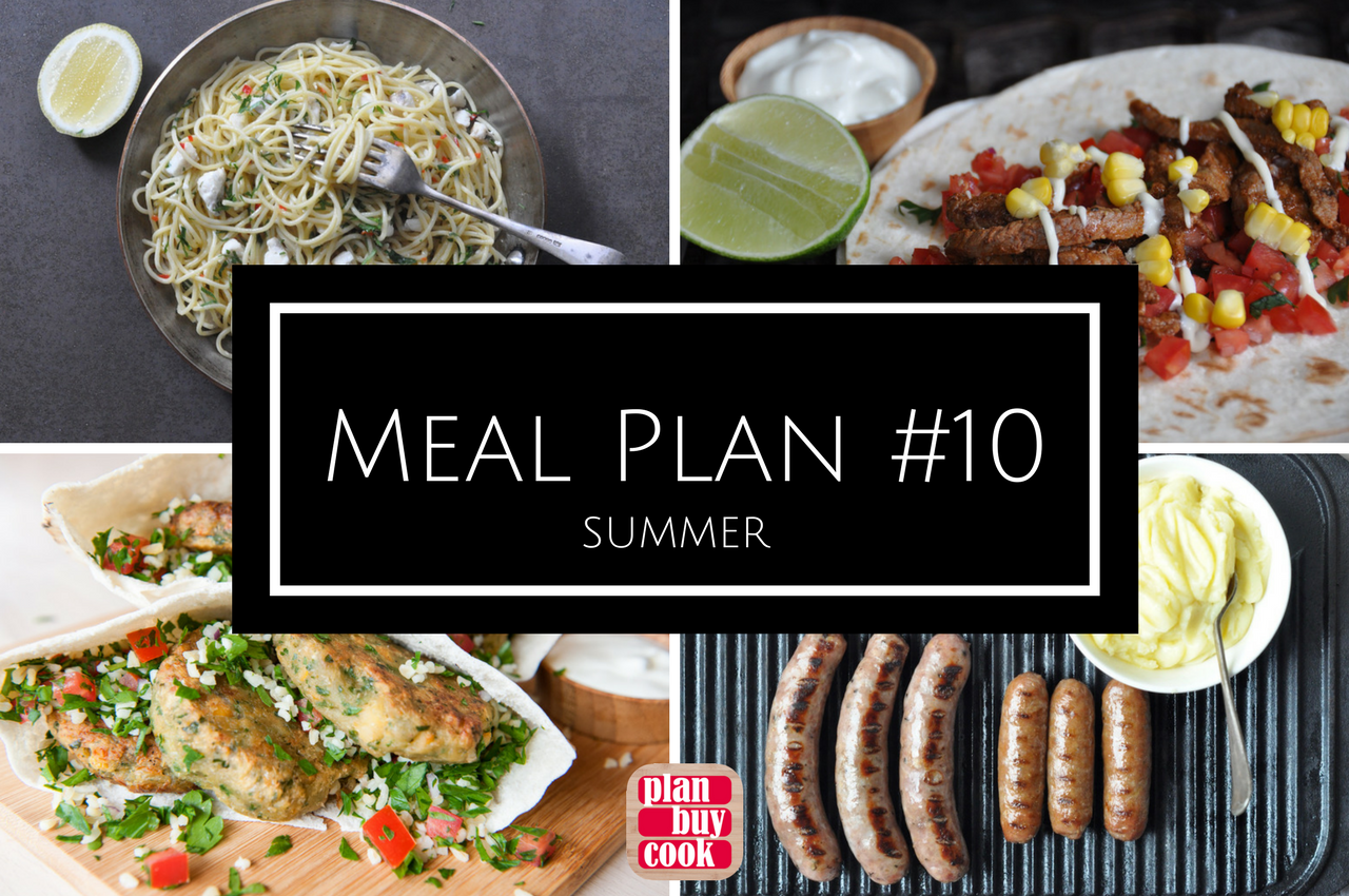 Meal planning ideas for summer meals
