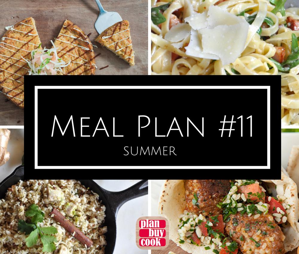 Meal plan #11 –Summer