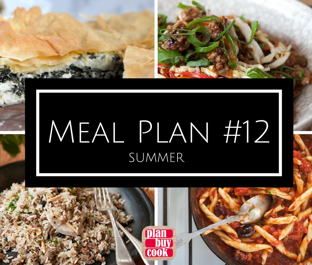 Meal plan #12 – Summer