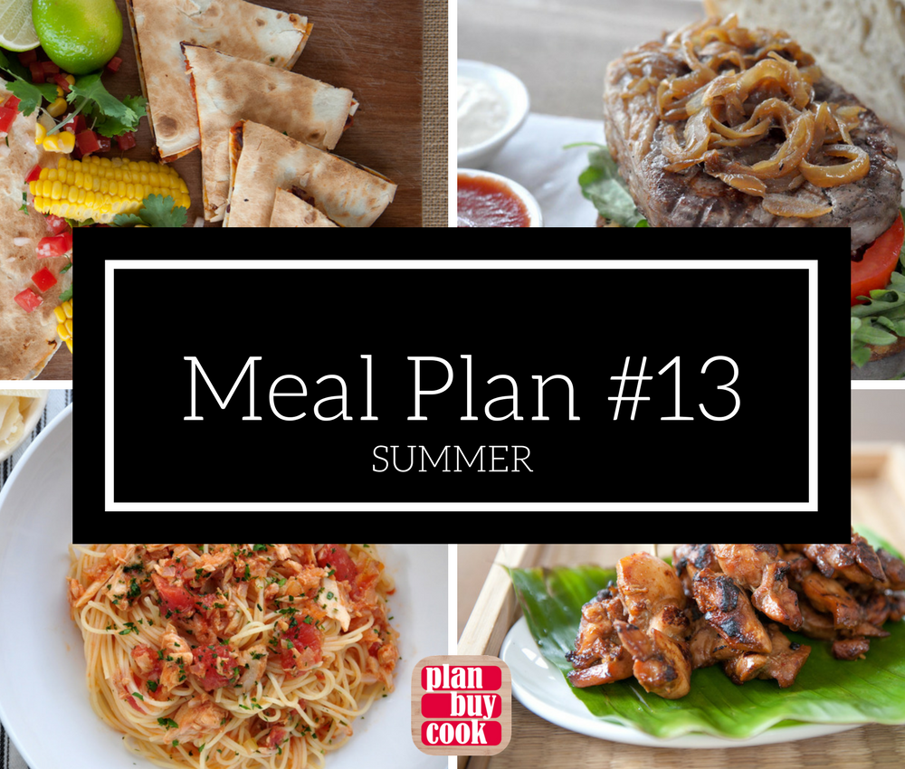 Meal plan #13 – Summer