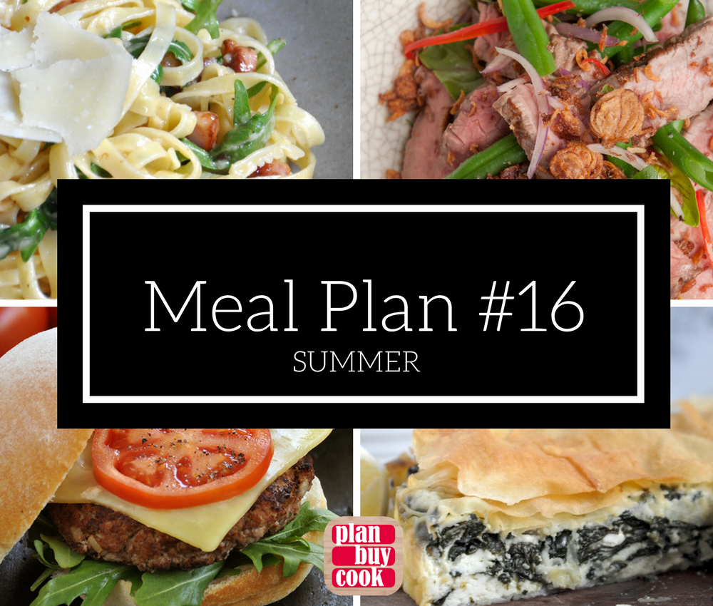 Meal plan #16 – Summer