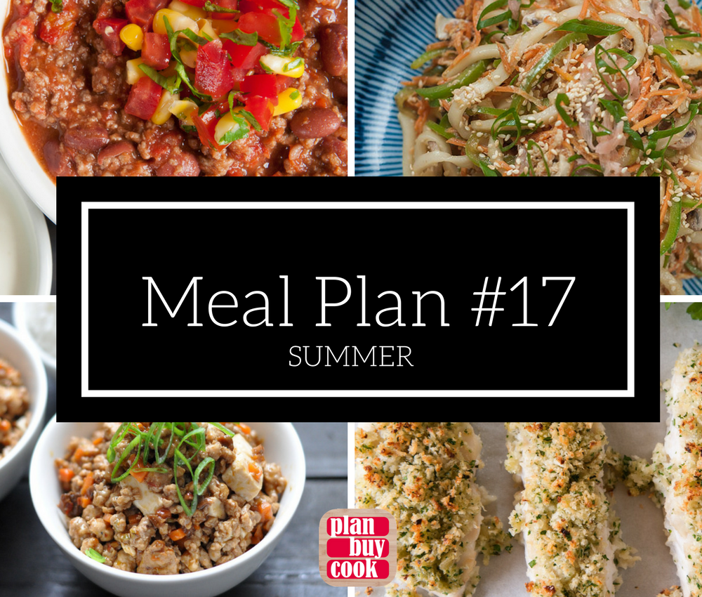 Meal plan #17 – Summer