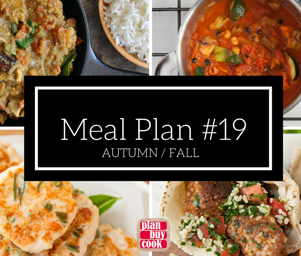 Meal plan #19 – Autumn / Fall
