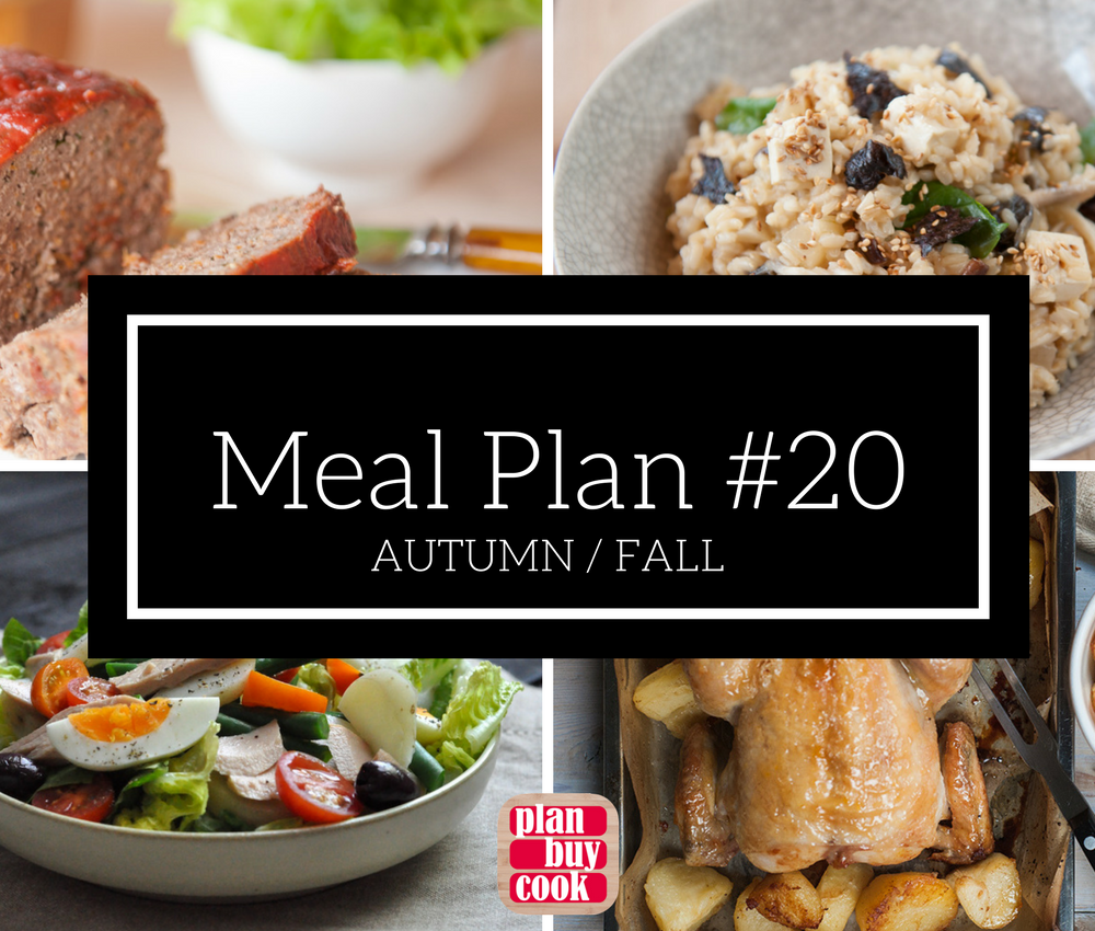 Meal plan #20 – Autumn/Fall