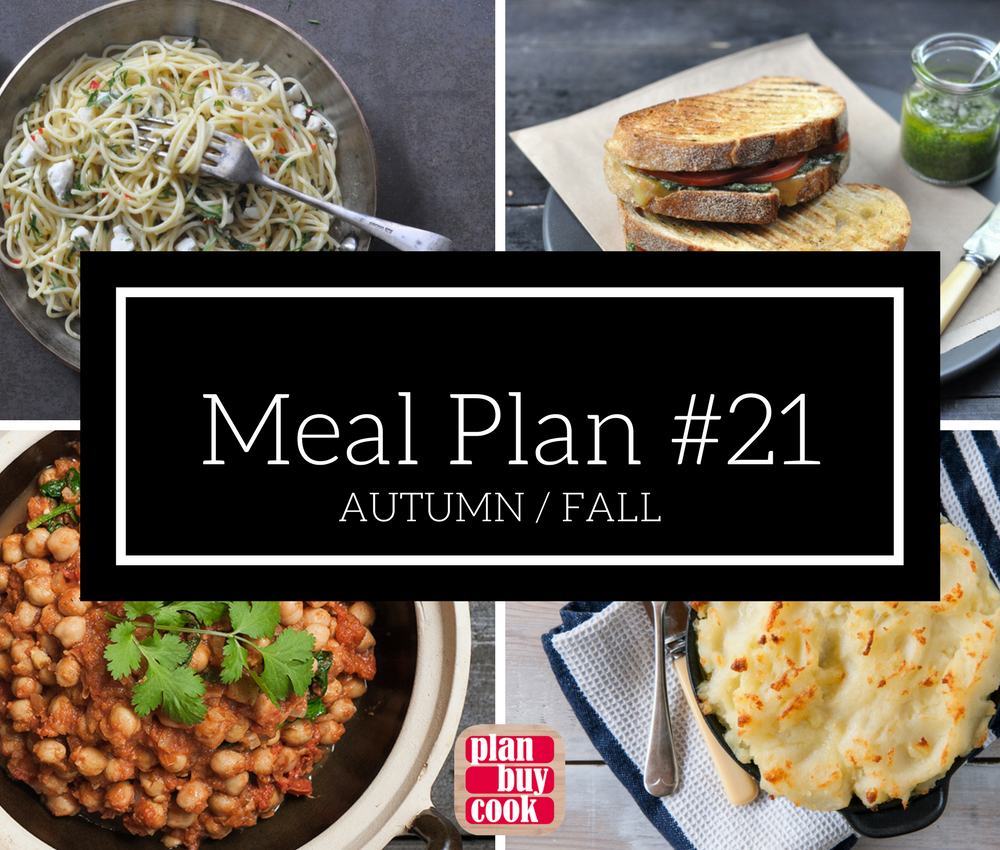 Meal plan #21 – Autumn/Fall