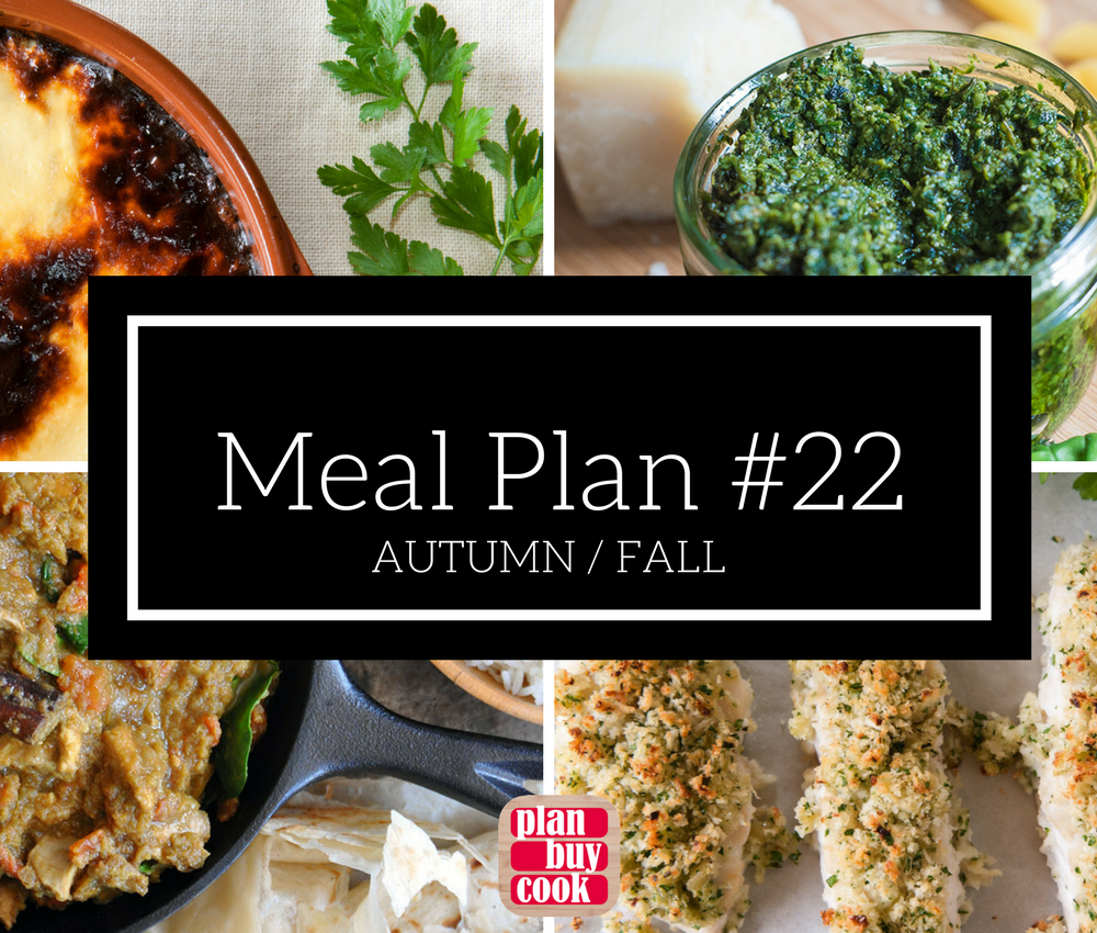 Meal plan #22 – Autumn/Fall