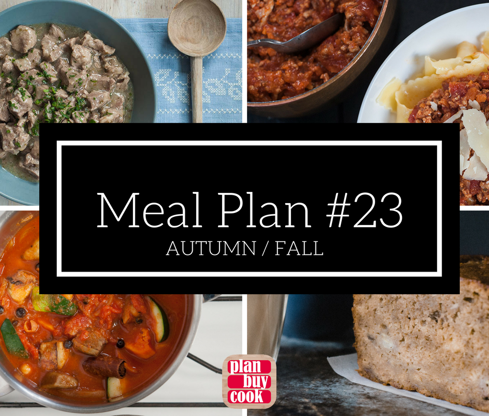 Meal plan #23 – Autumn/Fall
