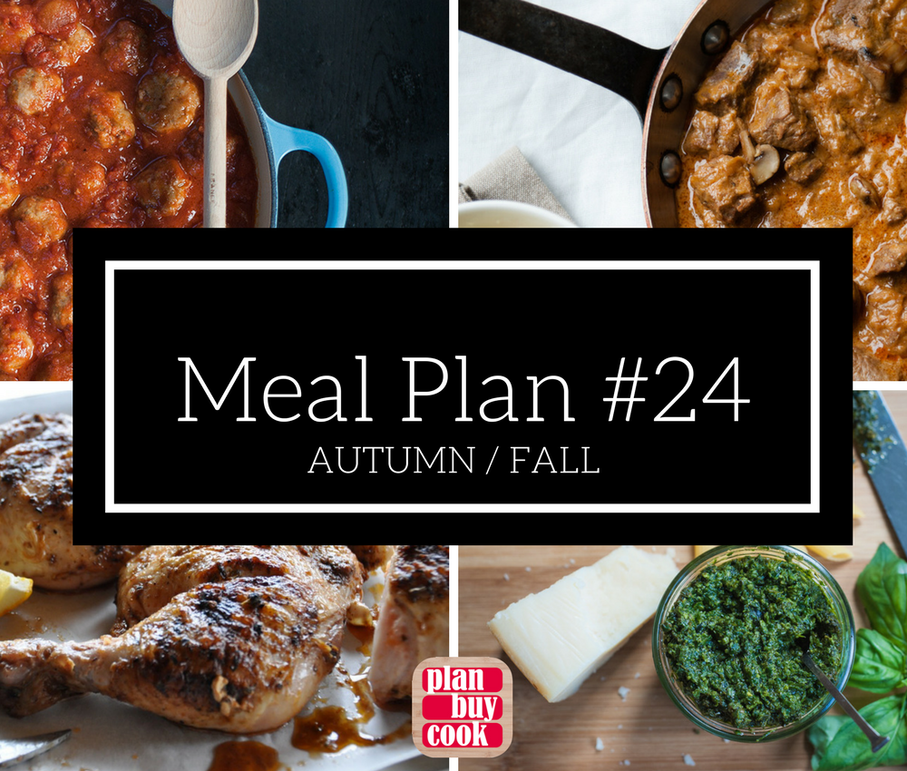 Meal plan #24 – Autumn / Fall
