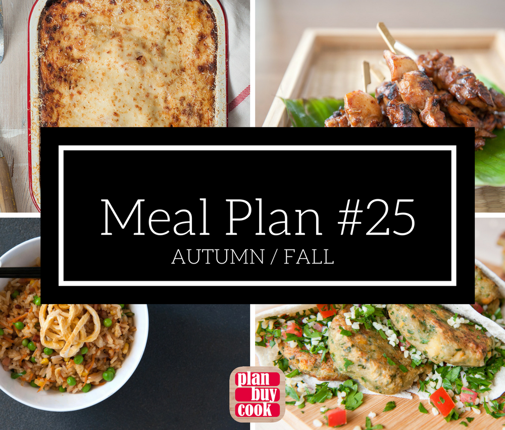 Meal plan #25 – Autumn / Fall