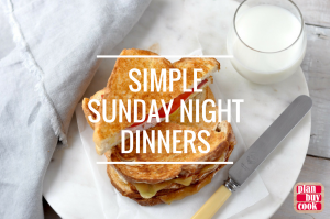 Sunday night dinners