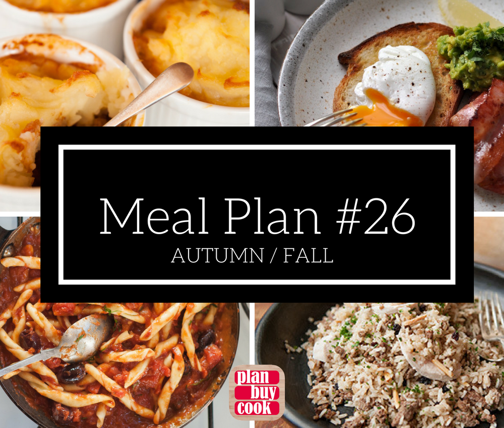Meal plan #26 – Autumn / Fall