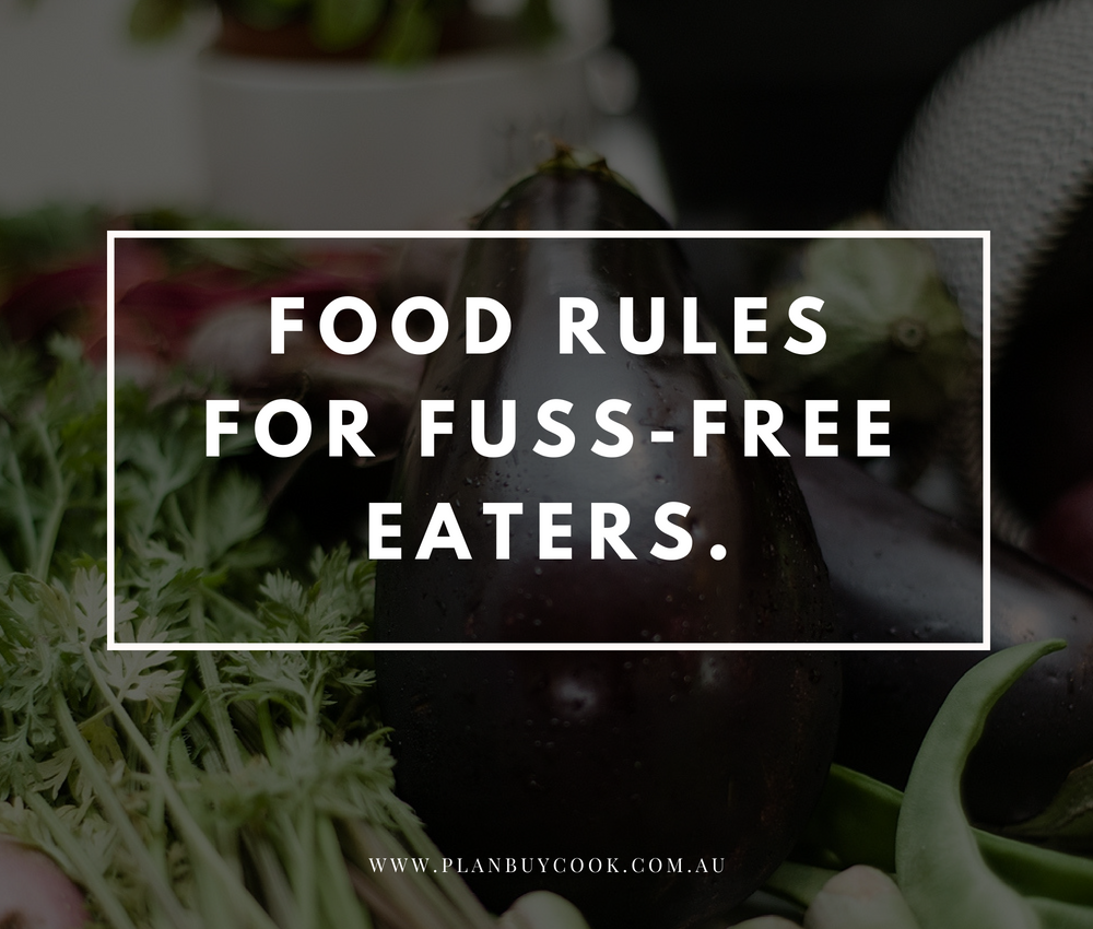 Food rules for fuss-free eaters