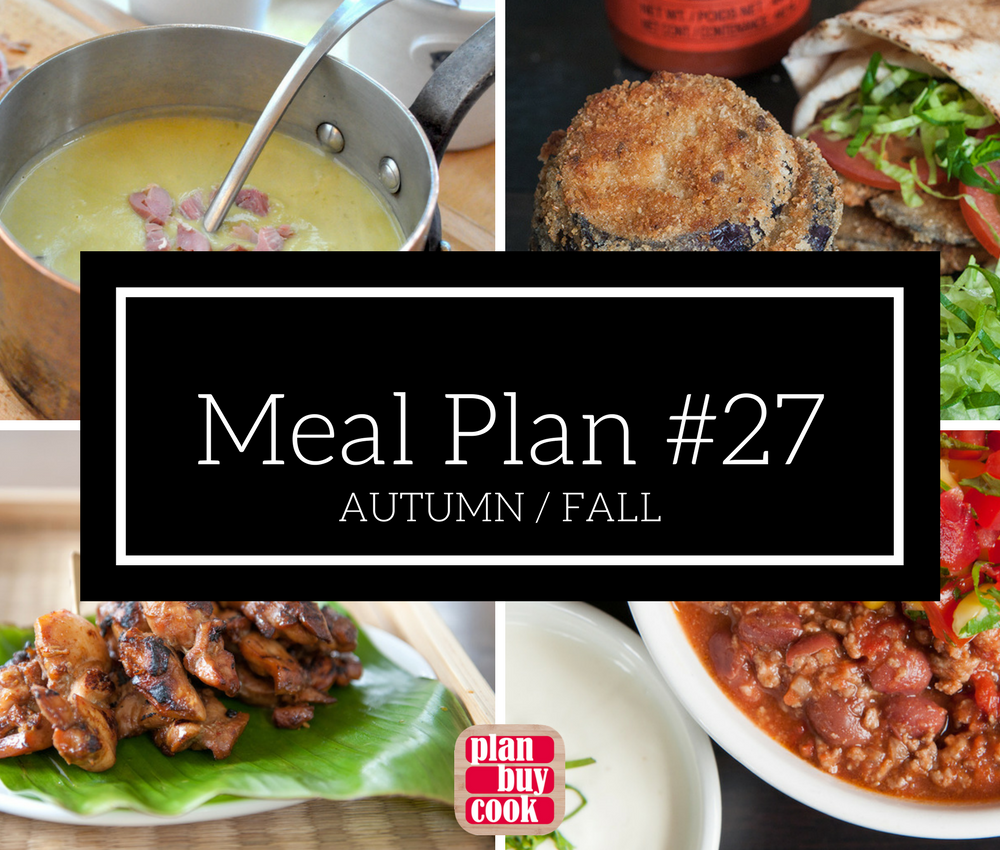 Meal plan #27 – Autumn/Fall