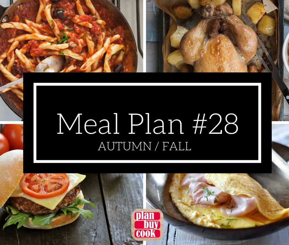 Meal plan #28 – Autumn / Fall