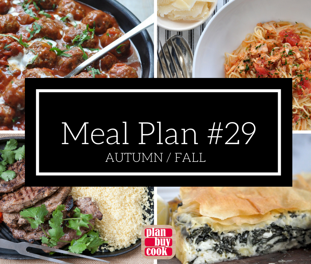 Meal plan #29 – Autumn/Fall
