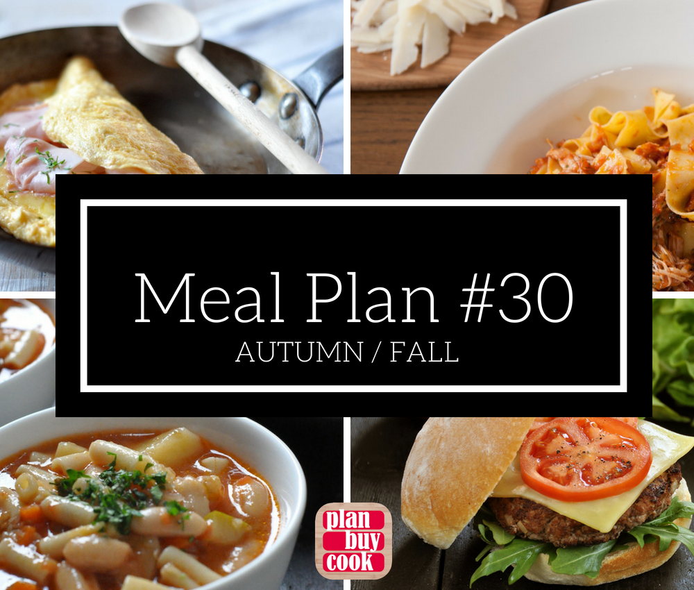 Meal plan #30 – Autumn/Fall