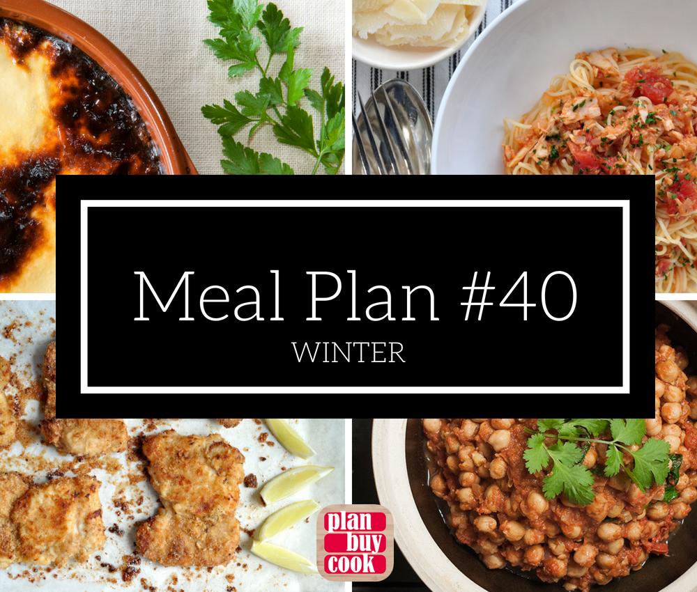 Meal plan #40 – Winter