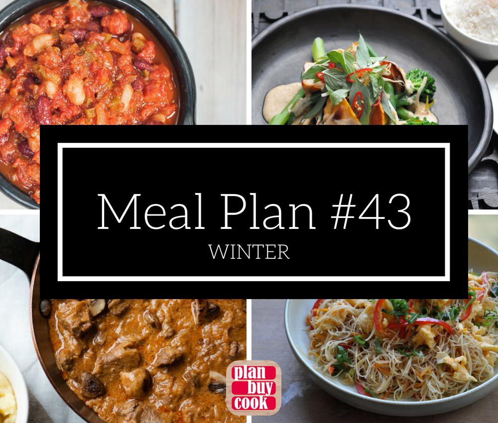 Meal plan #43 – Winter