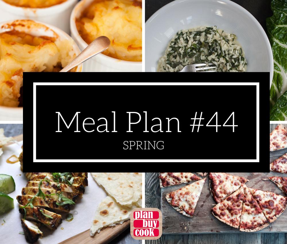 Meal plan #44 – Spring