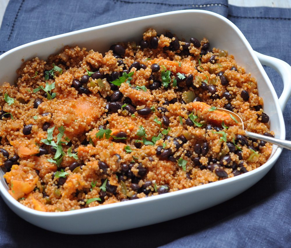 Roast sweet potato and quinoa braise
