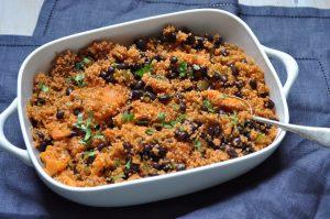 Roast sweet potato and quinoa braise