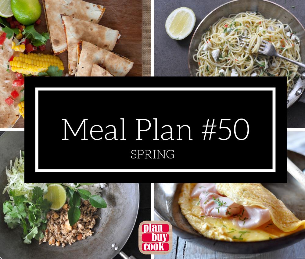 Meal plan #50 – Spring