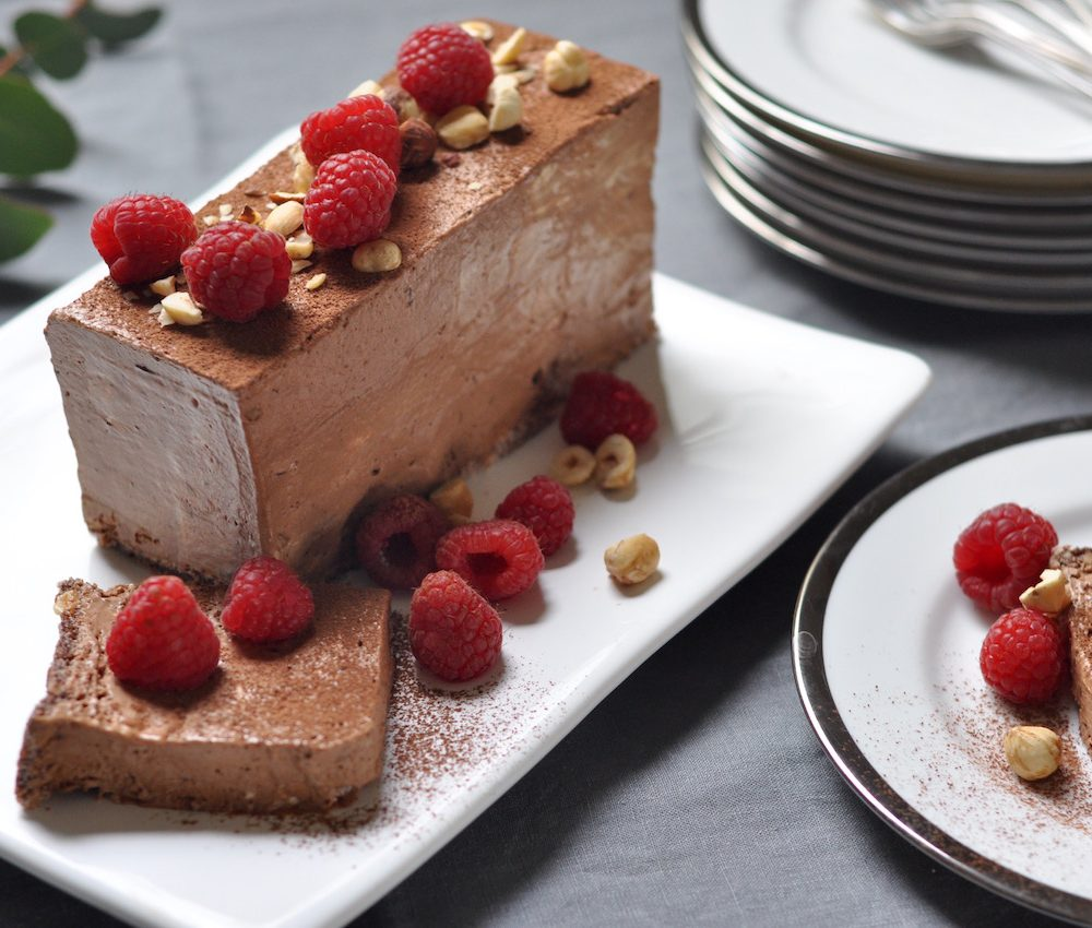 Chocolate hazelnut semifreddo