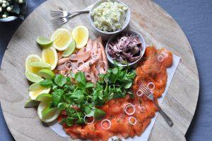 Simple seafood platter