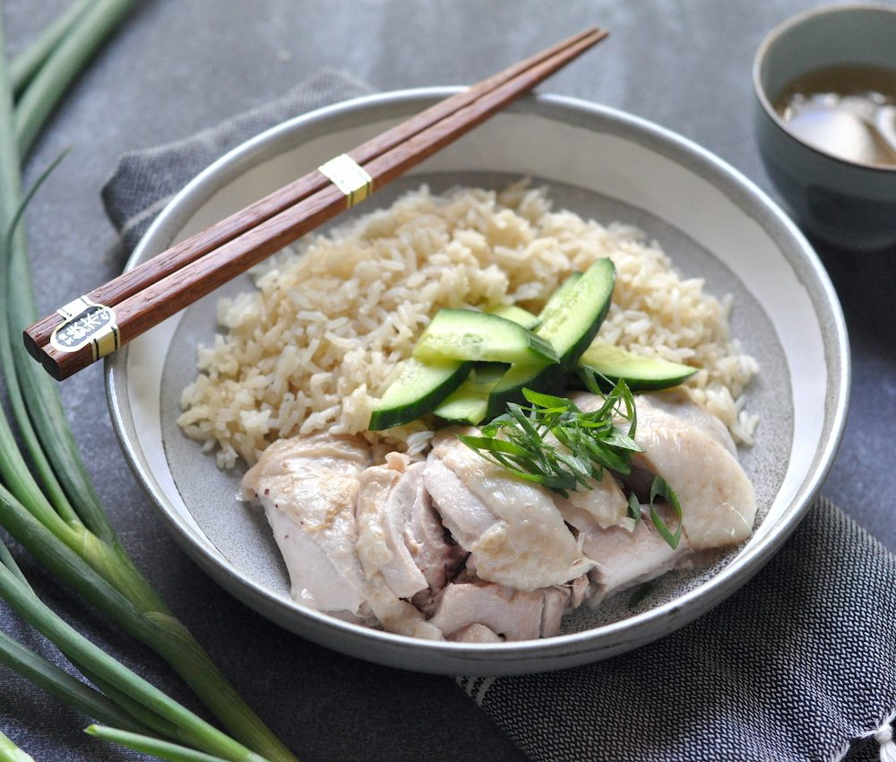 Poached ginger chicken