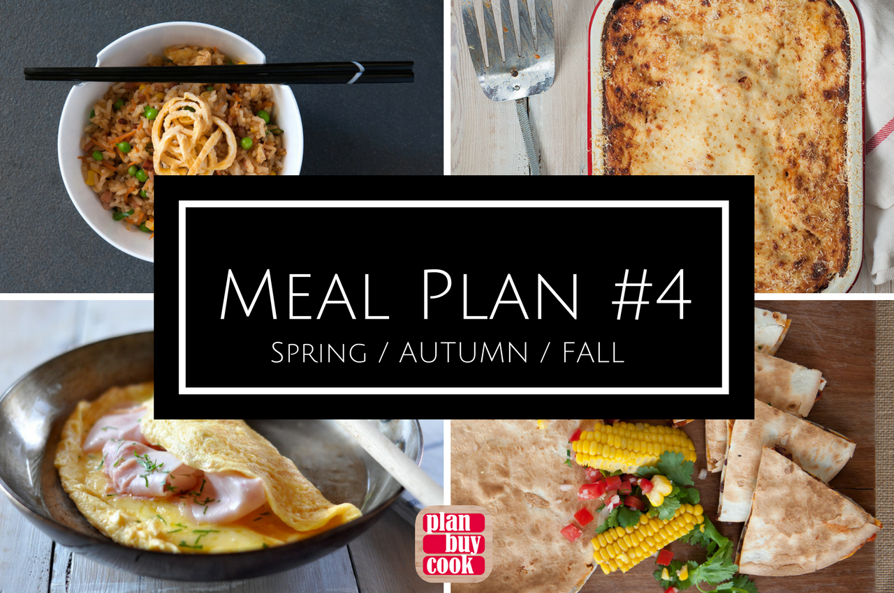 Autumn fall spring meal planning ideas